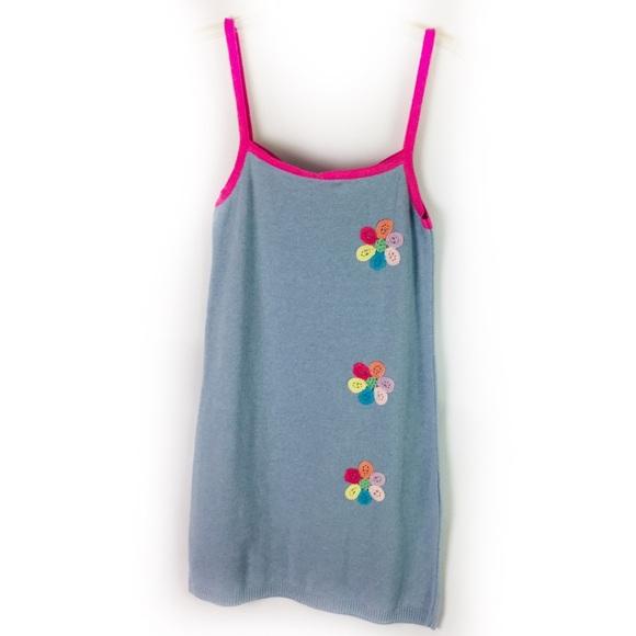 Desigual Dresses & Skirts - DESIGUAL | dress knit tank crochet floral detail S